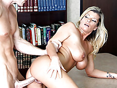 Big tits office pussy cramming tubes