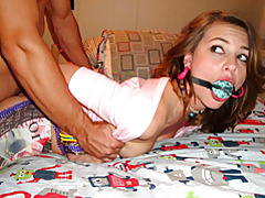 Tied and gagged teen fucked tubes