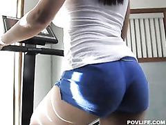 Busyt Isis Love stroking, sucking and riding cock tubes