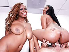 Black girls do threesome with him tubes