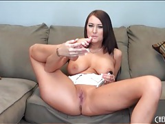 Brunette alexis grace in a sexy striptease tubes