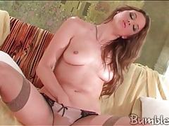Monika sweetheart masturbates in sexy stockings tubes