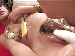 Lots of lube on masturbating japanese girl tubes