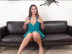 Dani daniels upskirt in her sexy blue dress tubes