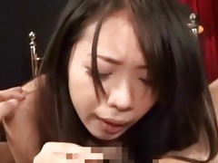 Pov japanese blowjob with cute brunette tubes