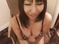Nice tits on this japanese cocksucker tubes