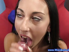 Blowjob loving euro amateur giving head and she loves it tubes