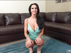 Huge boobs of ava addams in blue lingerie tubes