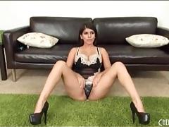 Push up bra and sexy slip on latina chick tubes