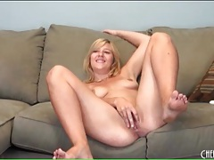 Cute blonde ashden wells fingers her cunt tubes