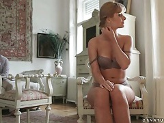 Charlie bella sits in his lap and kisses tubes