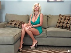 Lingerie and heels look hot on puma swede tubes