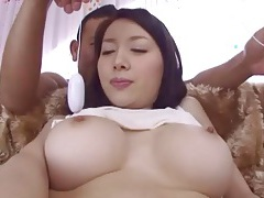 Big round japanese tits fondled sensually tubes