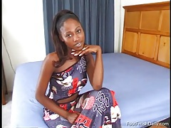 Black girl india in a slow and sexy striptease tubes