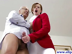 British amateur pussyfucked by an old mans hard cock and loves it tubes