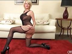 Milf joslyn james models black lingerie tubes