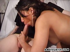 French amateur girlfriend anal action with facial tubes