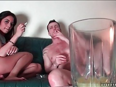 Couple smokes and has hot bondage sex tubes