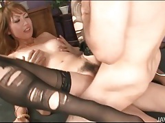 Slut in ripped stockings double penetrated tubes