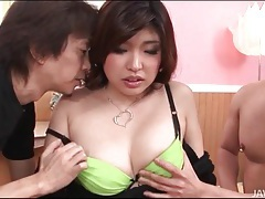Two guys lick titties of curvy japanese babe tubes