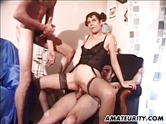 Amateur girlfriend double penetration with facial tubes