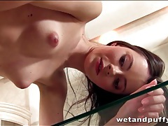 Young beauty christey fucks toy into cunt tubes
