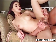 Asian slut katsuni takes a big dick in her anus tubes
