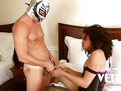 Teen tranny keira vergas rubbing cocks with masked lover tubes