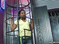 Extreme caged asian blowjob from lyla lei tubes