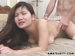 Busty amateur girlfriend sucks and fucks with facial tubes