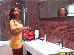 Black pornstar ericka liu tries on bikinis tubes