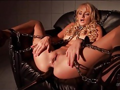 Dildo fucks asshole of bound ivana sugar tubes