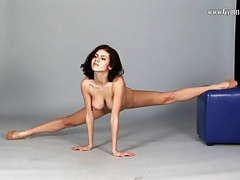 Big tits brunette is wicked flexible tubes