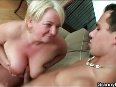 Titty fucking and doggystyle banging granny tubes