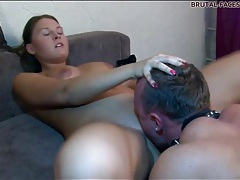 Voluptuous girl gets licked by sub guy tubes