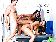 Threesome fuck with fit black girls tubes