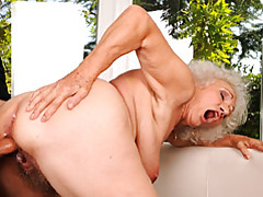 Horny old minx gets ploughed tubes