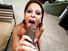 She sucks big black cock to erection tubes