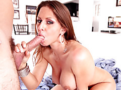 Oral with big tits slut in heels tubes