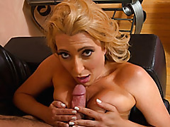 Suck and titjob with busty blonde tubes