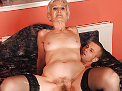 Old lady loves young cock tubes