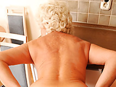 Pov with cock gobbling granny tubes