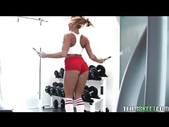 Fit and busty nikki delano gets rammed by her trainer tubes