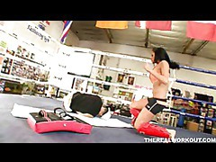 Lovely chick gets banged by her fitness trainer tubes