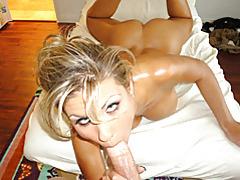 Incredible body on cocksucking blonde tubes