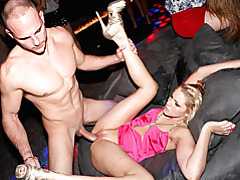Hot party slut fucked in club tubes