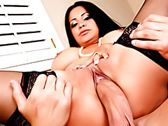 Big titty cocksucker in stockings tubes