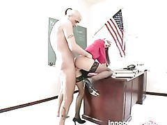 Lovely working student riding her professors cock tubes
