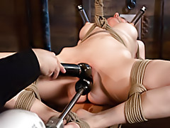 Hot tied girl dildo fucked tubes