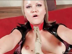 Bound bitch in leather boots has pov sex tubes